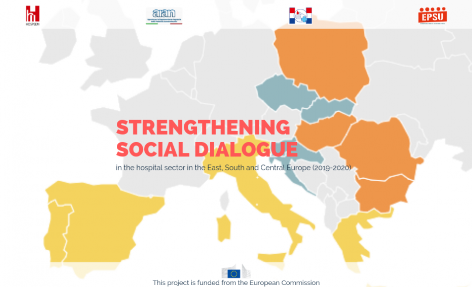 "EPSU HOSPEEM project Strengthening social dialogue in the hospital sector in the East, South and Central Europe"" 2019 and 2020"