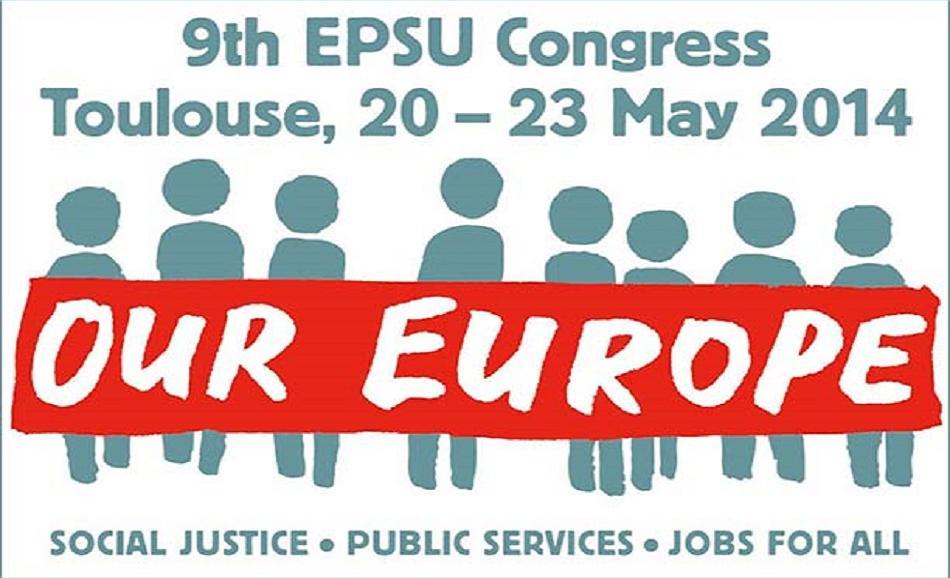 EPSU Congress 2014 logo