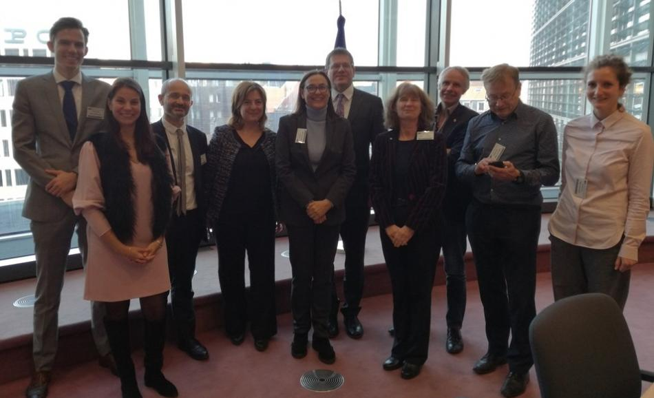 22.11.2018 ETUC delegation and employer organisations meet EU Commission Vice-President Šefčovič