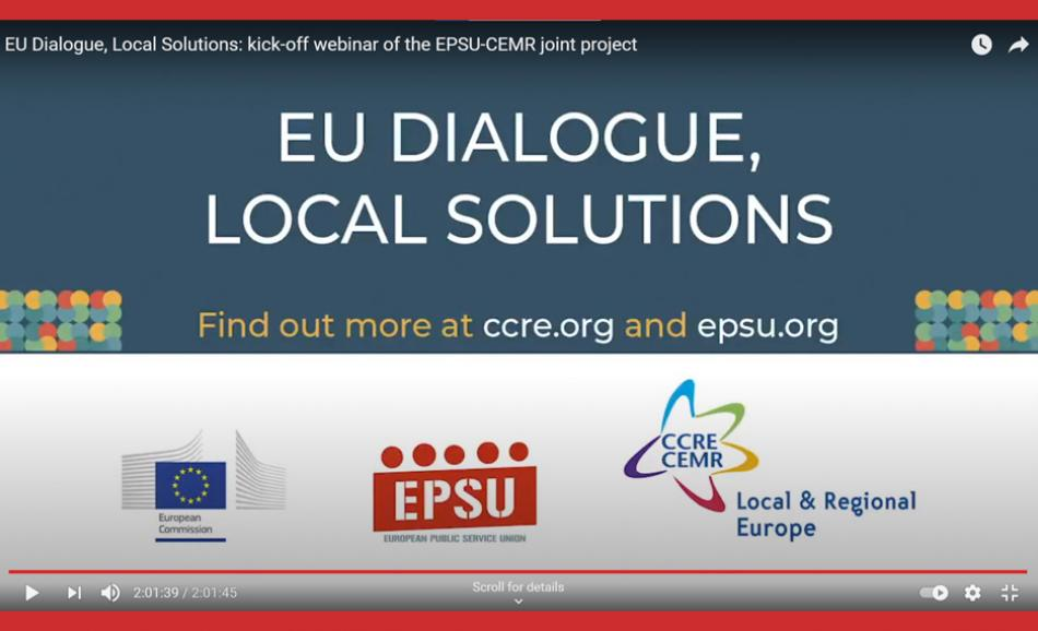 Social Dialogue EPSU CEMR project EU Dialogue Local Solutions
