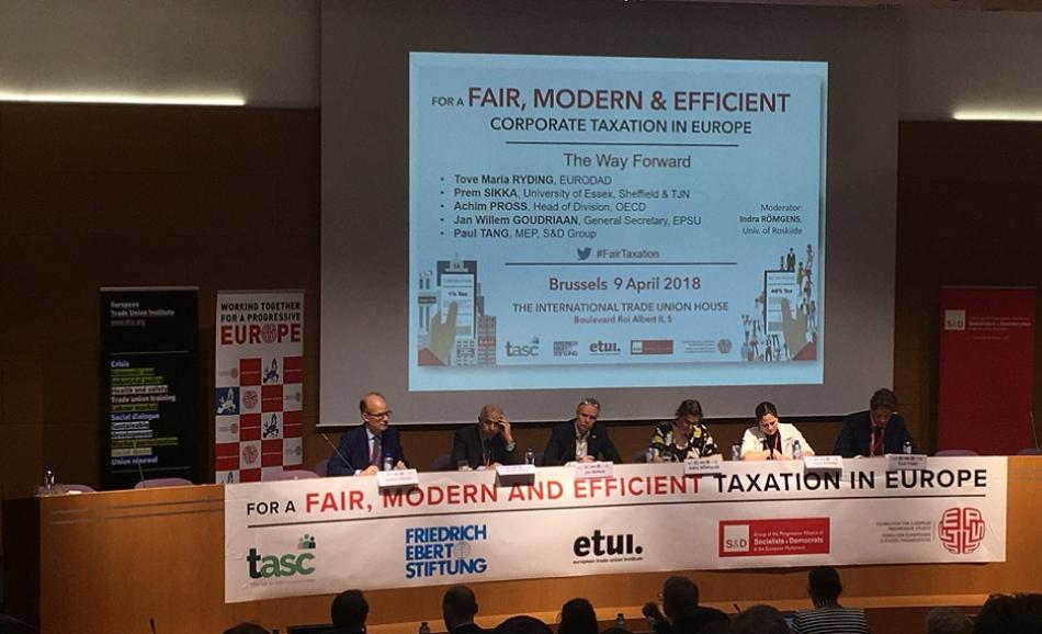 For a Fair, Modern & Efficient Corporate Taxation conference 9 April Brussels