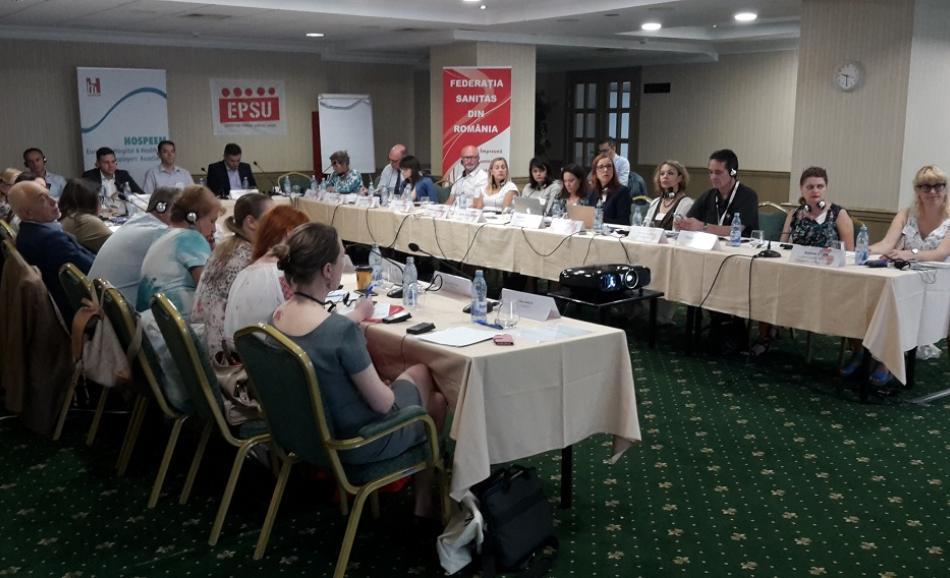HOSPEEM-EPSU First Regional Workshop in Eastern Europe, Bucharest