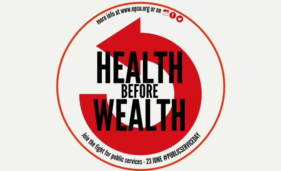 Health before Wealth logo EPSU