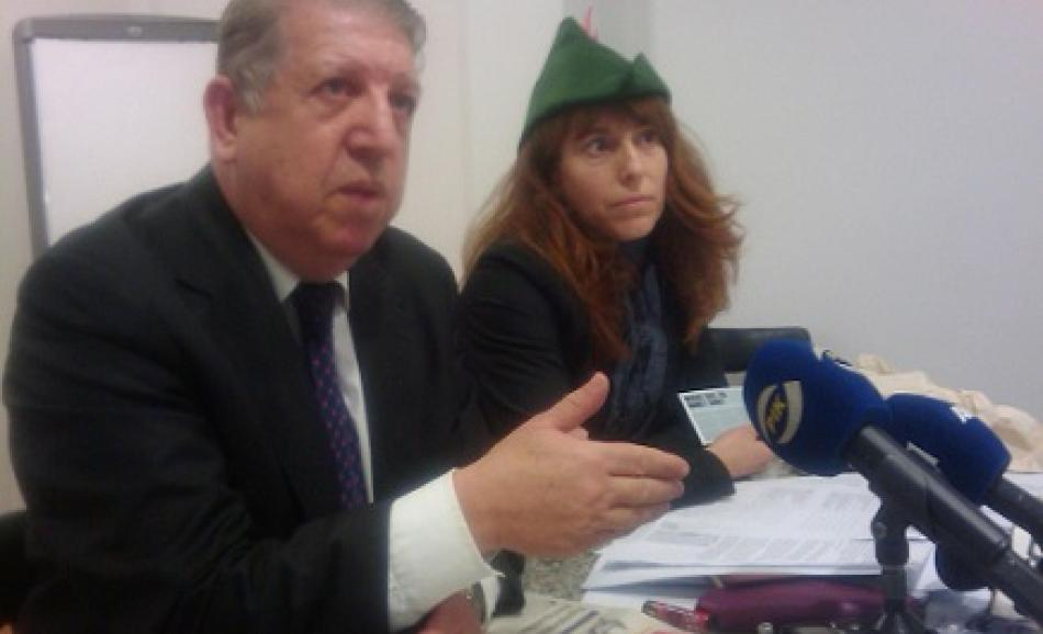 Nadja Salson EPSU Policy officer and Glafkos Hadjipetrou, General Secretary of PASYDY