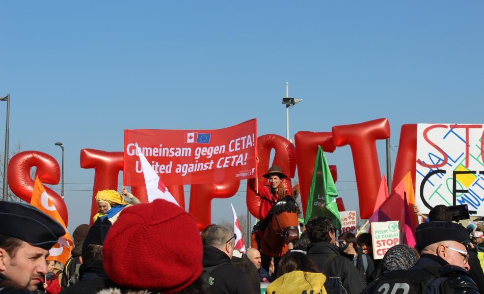 CETA vote Strasbourg