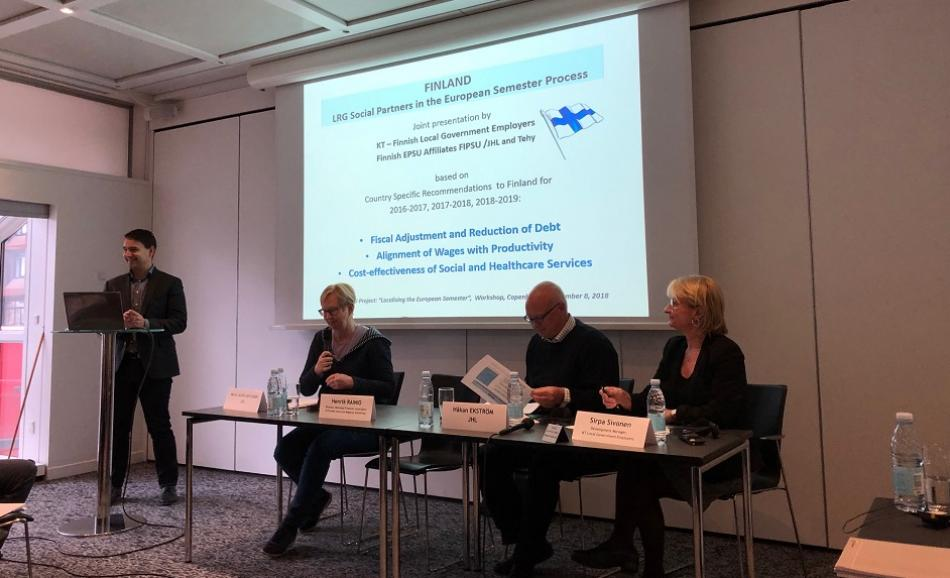 Social Dialogue Local and Regional Government European Semester Copenhagen November 2018