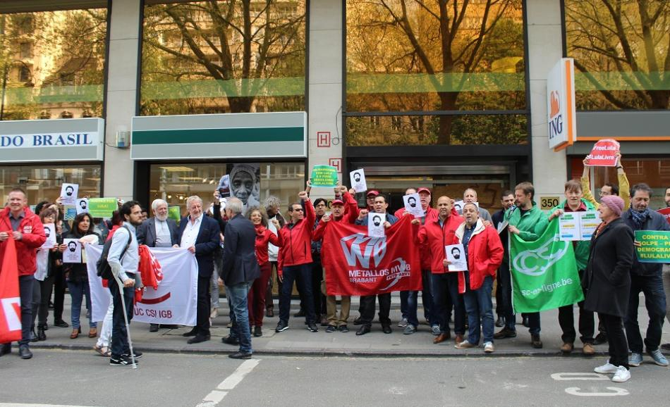 23 April 2018 Free Lula action Brussels