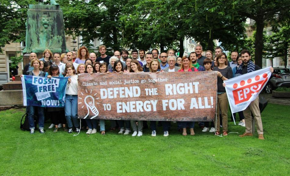 Right to Energy coalition members June 2019 Brussels