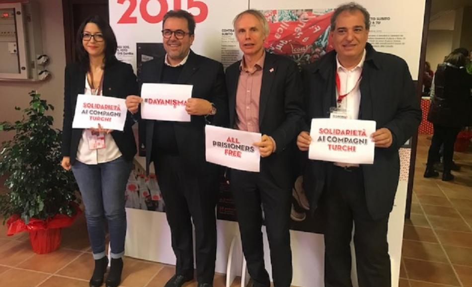 28 November 2018 FP CGIL Congress solidarity with Turkish trade unionists