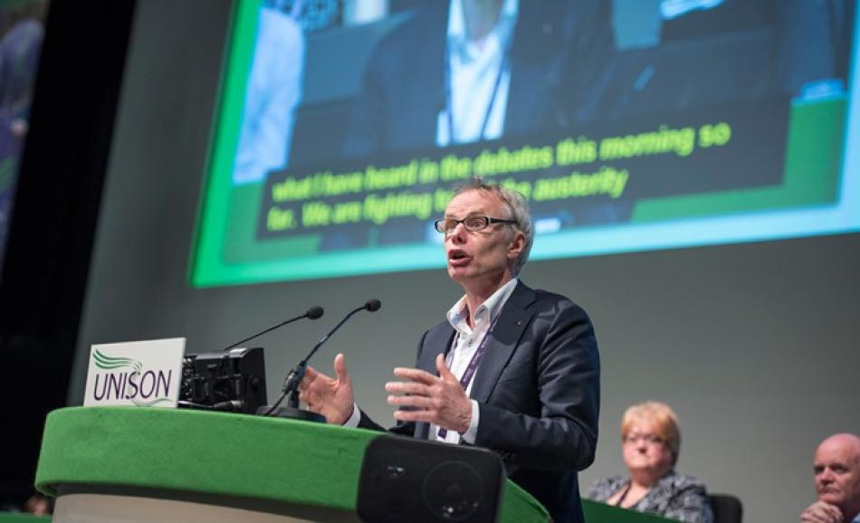 JW Goudriaan EPSU General Secretary speaking at UNISON conference 20 June 2016 Brighton