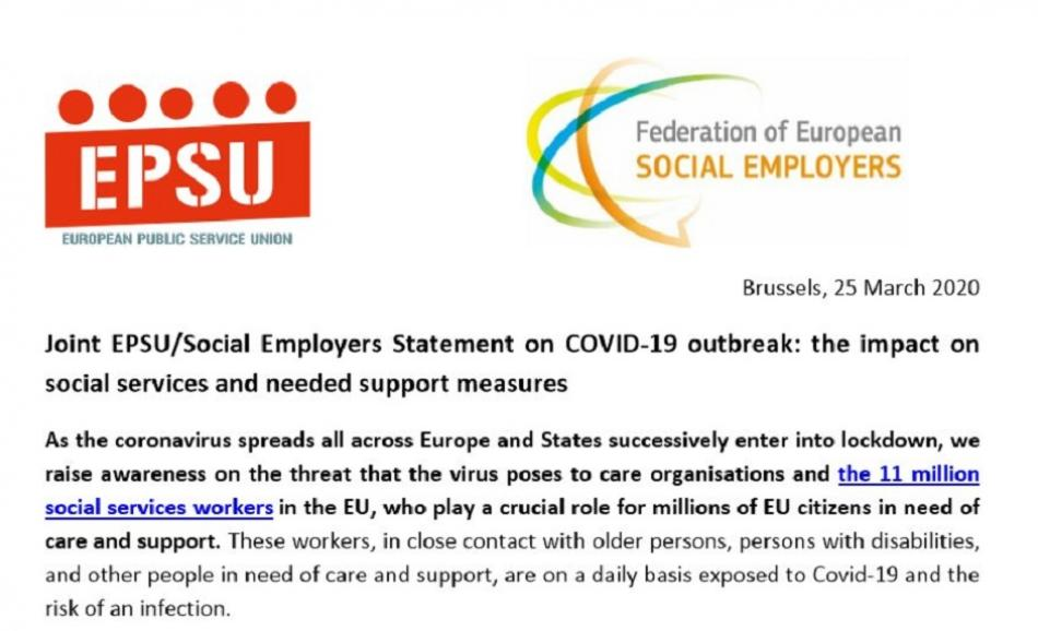 JOINT STATEMENT Social Employers