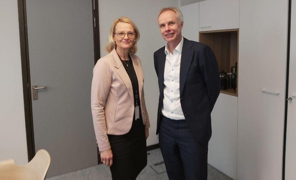 MEP H. Fritzon Vice chair S&D group with EPSU General Secretary 19 February 2020