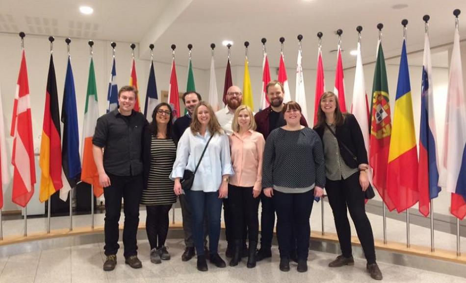 Young trade unionists from Norway NTL visit EPSU, Brussels, 20 January 2017