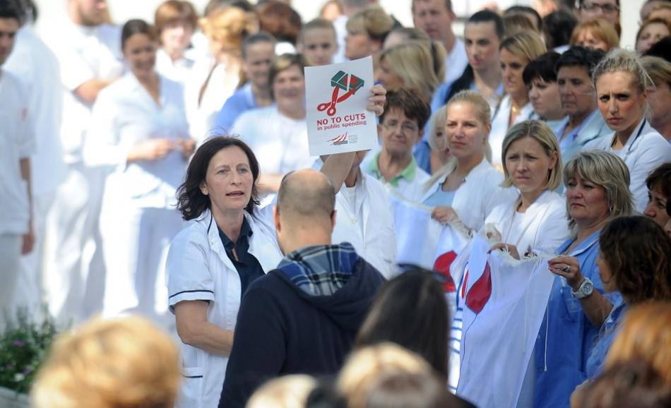 Health sector - no to cuts - EPSU affiliated union in Croatia