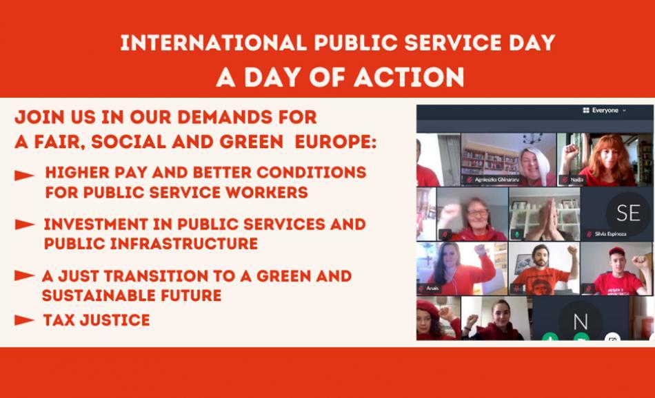 Public service day EPSU 20 June 2020