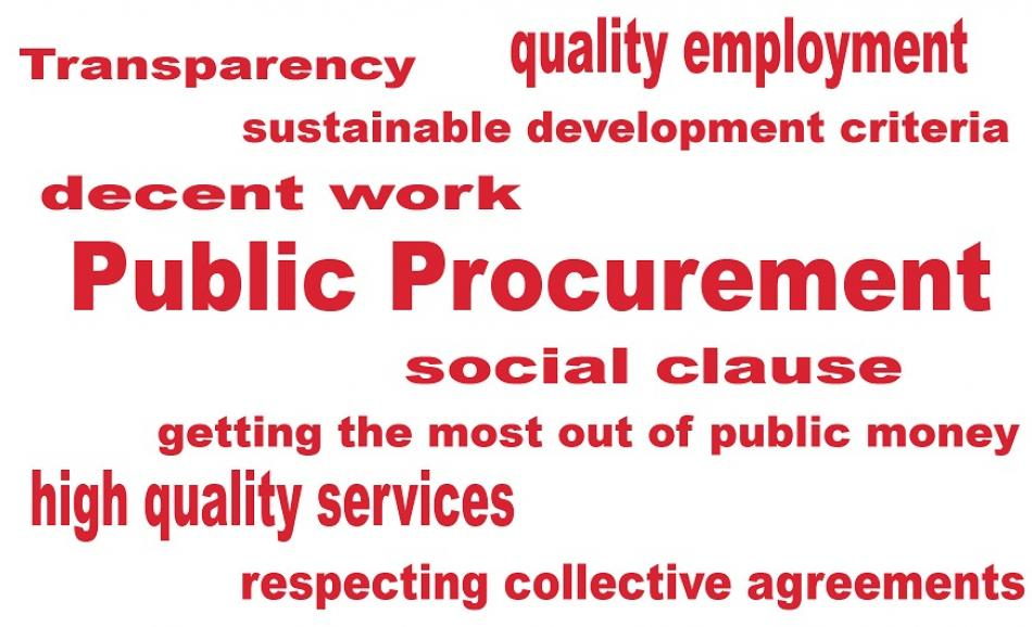 Public procurement EPSU logo