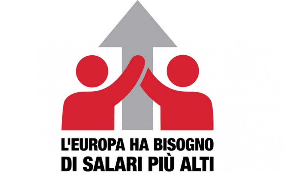 ETUC Pay rise campaign logo italian version