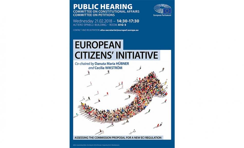 Public Hearing European Citizens' Initiative, 21 February 2018