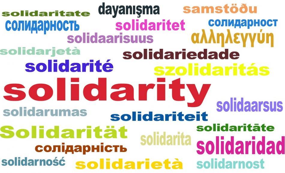 Solidarity all languages EPSU logo