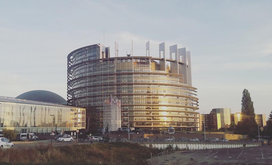 European Parliament building Strasbourg