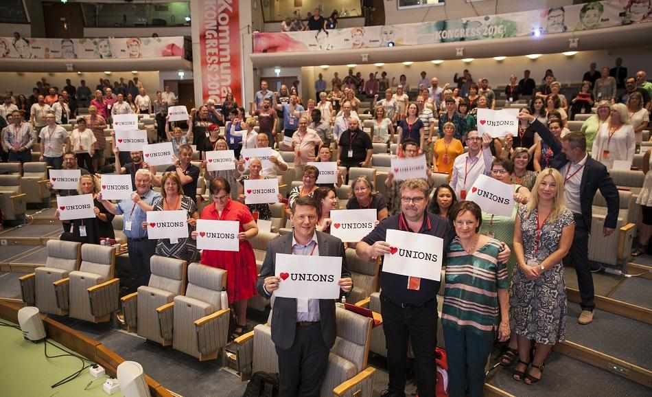 Swedish union Kommunal supporting trade union rights in Europe and worldwide 2 June 2016