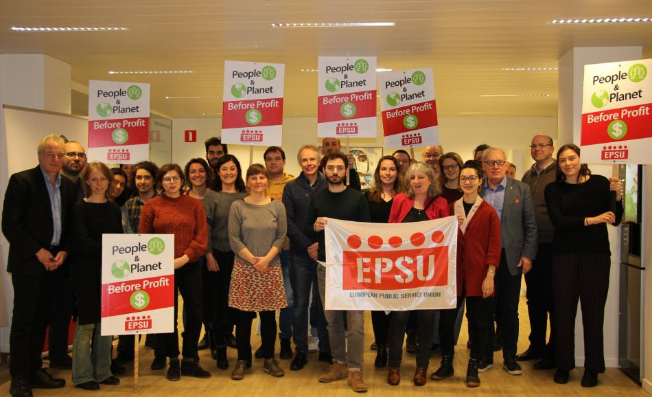 Trade Unions for Energy Democracy network supports YouthForClimate, 14 March 2019, Brussels, EPSU offices