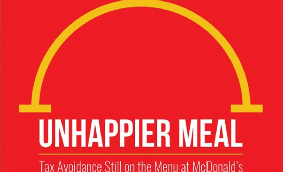 Unhappier Meal - tax avoidance still on the menu at McDonald's -cover page report