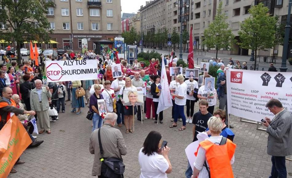 Protest action in Vilnius against the new labour code, 10 September 2016