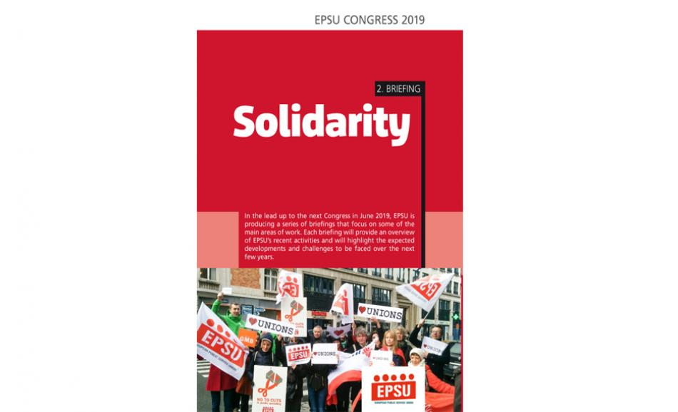 Cover EPSU Congress Briefing nr2 Solidarity
