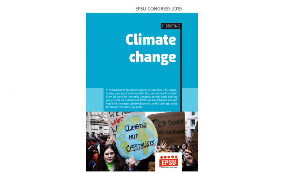 Cover EPSU Congress briefing 7 Climate change