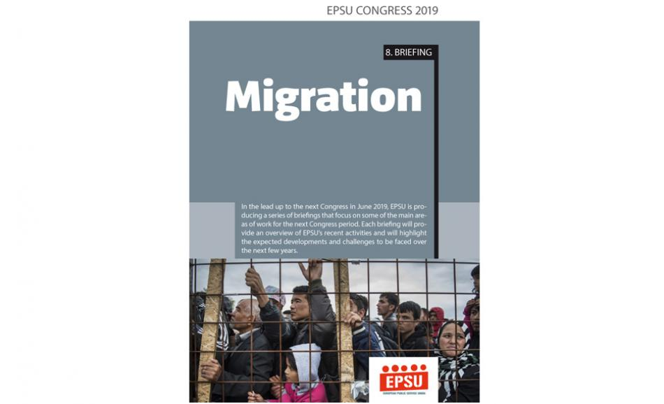 Cover EPSU Congress briefing 8 Migration