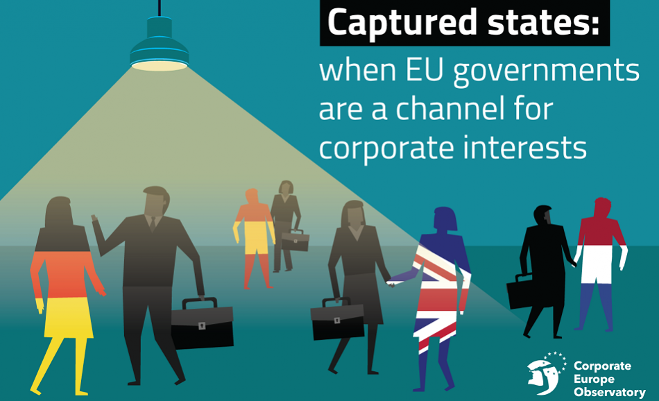 Cover Corporate Europe report Captured States February 2019