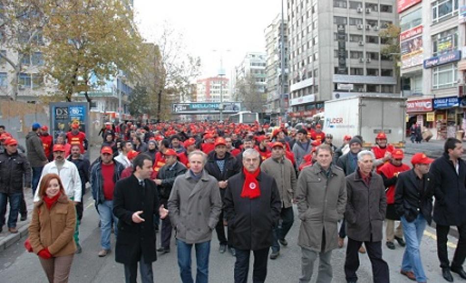 Municipality workers demonstration, Ankara 13 December 2012