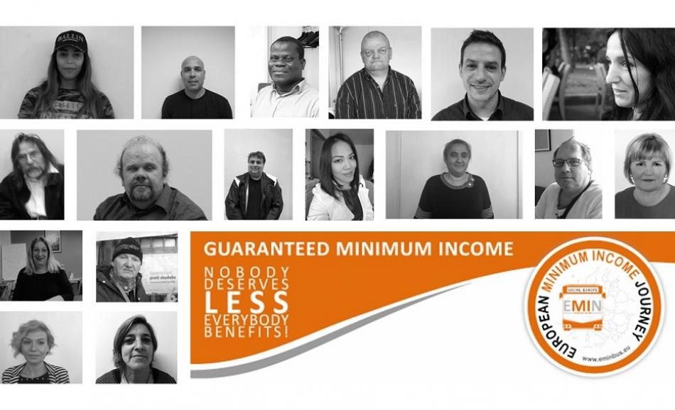 Minimum income campaign logo