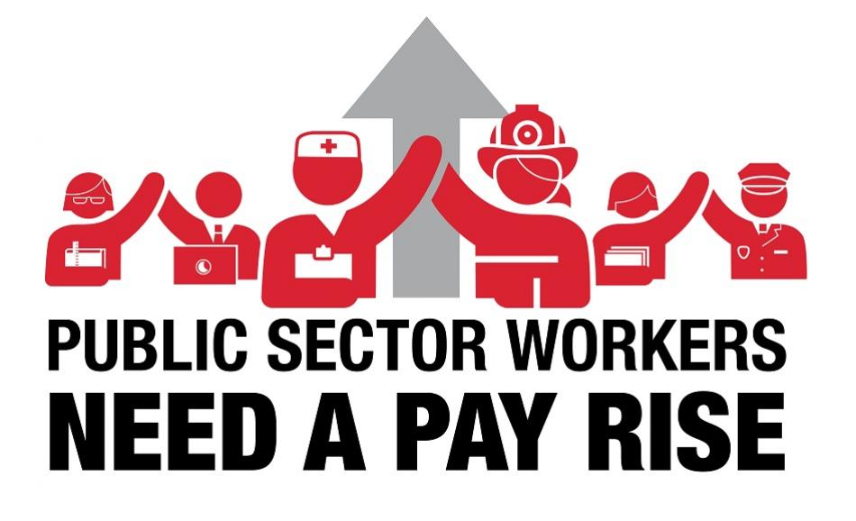 Public Sector Workers need a pay rise logo