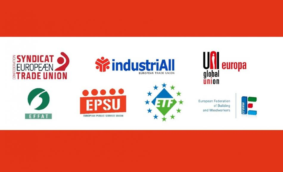Joint ETUC ETUFs logos petition More Democracy at work