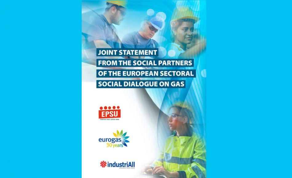 EPSU IndustriAll, Eurogas, just transition joint statement gas