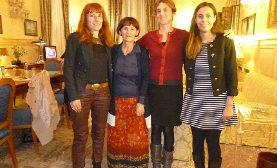 2 December meeting with Italian Administration and Simplification Minister Maria Anna Madia, General Secretary Rossana Dettori,  EPSU Secretariat Nadja Salson, and CESI secretariat Aurore Chardonnet