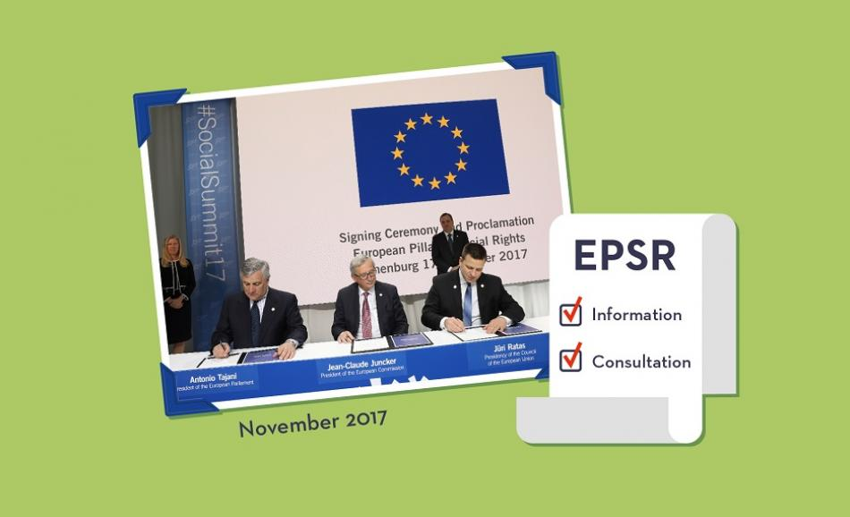 European Pillar of Social Rights - information and consultation