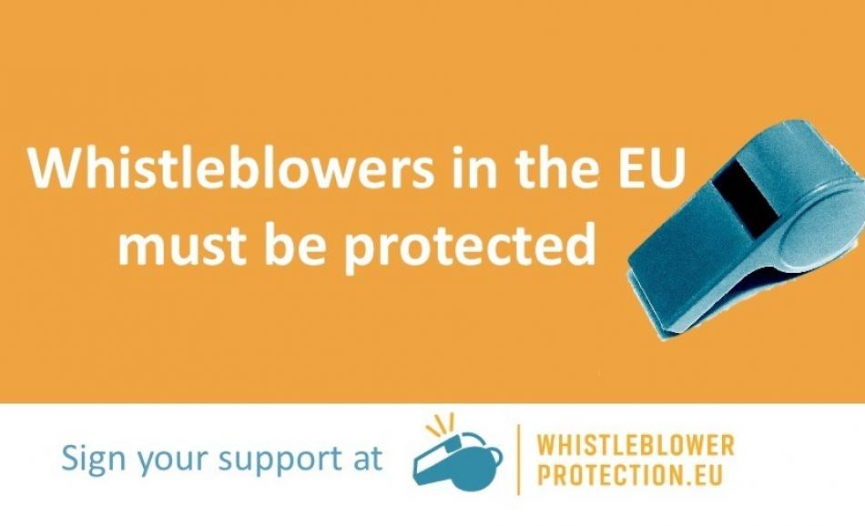 Whistleblowers need EU protection