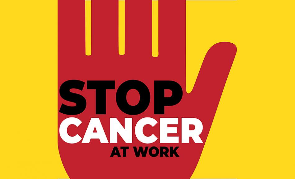 STOP Cancer at work campaing logo